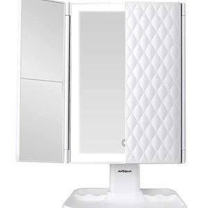 Tri-fold Mirror with Lights Modes  72 LED